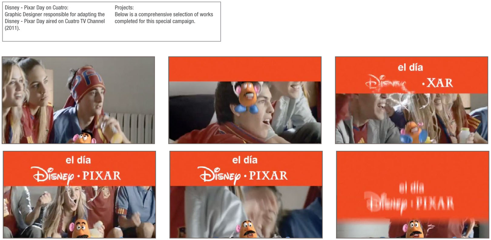 Cuatro TV Disney Pixar