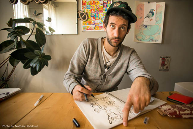 "Interview: Jon Burgerman ""Doodle Art"""